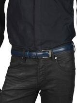 Verstelbare Herenriem Classic Petit prix cuir Blauw classic 82-30-vue-porte