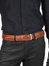 Verstelbare Herenriem Extra Petit prix cuir Bruin extra 290-40-vue-porte