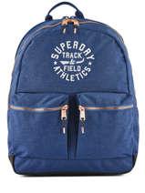 Rugzak 2 Compartimenten Superdry Blauw backpack woomen G91109MT