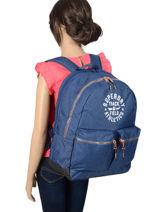 Rugzak 2 Compartimenten Superdry Blauw backpack woomen G91109MT-vue-porte