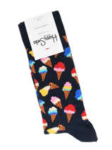Sokken Happy socks Zwart ice cream ICC01