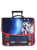 Boekentas Op Wieltjes Federat. france football Blauw equipe de france 193X203R