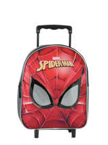 Rugzak Op Wieltjes Mask Spiderman Rood mask SPINI04