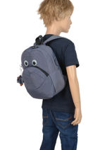 Mini Rugzak Kipling Zwart back to school 253-vue-porte