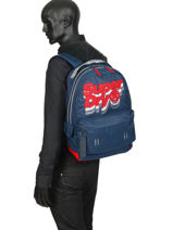Rugzak 1 Compartiment Superdry Blauw backpack men M91801MU-vue-porte