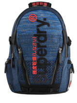 "Rugzak Knip Tarp 2 Compartimenten + Pc15"" Superdry Blauw backpack men M91800JU"