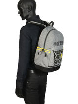 Rugzak 1 Compartiment Superdry Grijs backpack men MS4100JU-vue-porte