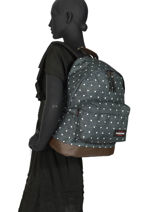 Rugzak Wyoming Eastpak Zwart authentic K811-vue-porte