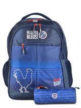 Rugzak 2 Compartimenten Met Gratis Pennenzak Allez les bleus Blauw world cup ALB12109