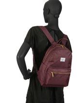 Rugzak 1 Compartiment Herschel Rood classics woman 10502-vue-porte