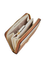 Portemonnee Mercer Leder Michael kors Bruin money pieces F8GF6Z1T-vue-porte