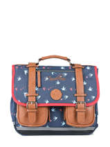 Cartable 2 Compartiments Cameleon Blauw vintage print girl PBVGCA35