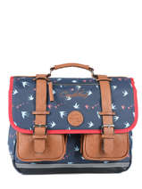 Cartable 2 Compartiments Cameleon Blauw vintage print girl PBVGCA38