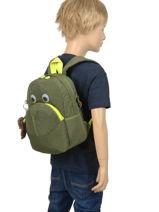 Mini Rugzak Kipling Groen back to school 253-vue-porte
