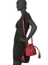 Bucket Bag S Wellington Leder Etrier Zwart wellington EWEL02-vue-porte