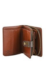 Preloved Zip Wallet Portefeuille Neverfull Monogram Brand connection Bruin louis vuitton 321-vue-porte