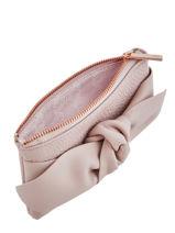 Portemonnee Soft Knot Leder Ted baker Roze soft knot MELLANY-vue-porte