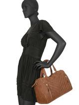 Shoppingtas Vintage Leder Nat et nin Bruin vintage PANAMA-vue-porte