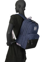 Rugzak 2 Compartimenten Superdry Blauw backpack woomen W9100005-vue-porte