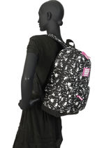 Rugzak 1 Compartiment Superdry Zwart backpack woomen W9100014-vue-porte