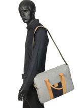 "Laptoptas Wool 15"" Faguo Grijs wool 19LU0403-vue-porte"