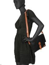 Cross Body Tas Brown Miniprix Zwart brown H6708-vue-porte
