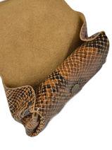 Portemonnee Gustave Leder Paul marius Bruin python GUSTAPYT-vue-porte