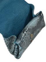 Portemonnee Gustave Leder Paul marius Blauw python GUSTAPYT-vue-porte