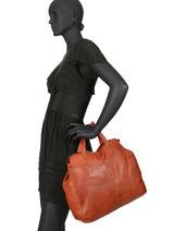 Handtas A4 Formaat Cora Leder Pieces Rood cora 17098050-vue-porte