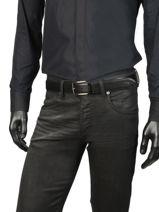 Herenriem Leder Lacoste Zwart belt RC4002-vue-porte