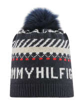 Wollen Damesmuts Tommy Tommy hilfiger Blauw accessoires AW07380