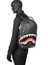 """Rugzak Sharks In Paris Met 15"""" Laptopvak Sprayground Grijs ultimate edition 910B-vue-porte"""