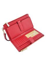 Portefeuille New Hamilton Leder Michael kors Rood money pieces F9GAFW4L-vue-porte