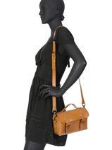 Cross Body Tas Vintage Leder Paul marius Bruin vintage ARTISANE-vue-porte