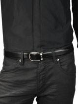 Verstelbare Herenriem Leder Montblanc Zwart belts 114412-vue-porte
