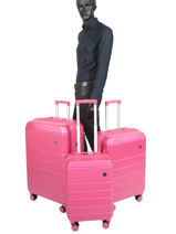Set Reiskoffers Lissabon Travel Roze lisbon 18807LOT-vue-porte