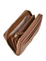 Portemonnee Leder Michael kors Bruin money pieces F9GF6Z1L-vue-porte