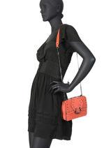 Cross Body Tas S Velvet Leder Milano Oranje velvet VR17111-vue-porte