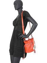 Bucket Bag S Premier Flirt Bicolor Leder Lancel Oranje premier flirt A10597-vue-porte