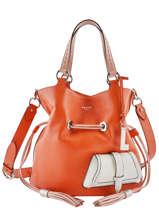 Bucket Bag M Premier Flirt Bicolor Leder Lancel Oranje premier flirt A10596
