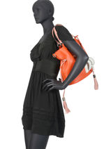 Bucket Bag M Premier Flirt Bicolor Leder Lancel Oranje premier flirt A10596-vue-porte
