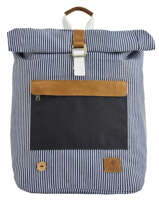 Rugzak Tricolor Faguo Zwart stripes denim 20LU0101