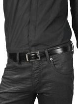 Verstelbare Riem Montblanc Zwart belts 113273-vue-porte