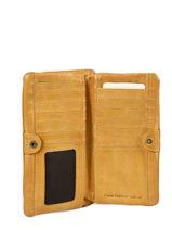 Portefeuille Heritage Leder Biba Geel accessoires KA4-vue-porte