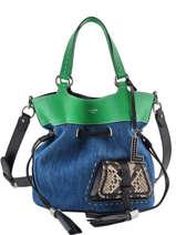 Bucket Bag L Premier Flirt Denim Leder Lancel Veelkleurig premier flirt A10568