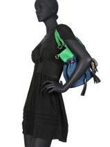 Bucket Bag L Premier Flirt Denim Leder Lancel Veelkleurig premier flirt A10568-vue-porte
