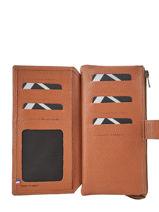 Portefeuille Madras 2 Compartimenten Leder Etrier Bruin madras EMAD907-vue-porte