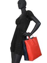 Handtas Fashion Show Leder Lacoste Rood fashion show NF3184TI-vue-porte