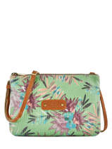 Cross Body Tas Palm Raffia Mila louise Groen palm 23665PLM