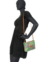 Cross Body Tas Palm Raffia Mila louise Groen palm 23665PLM-vue-porte